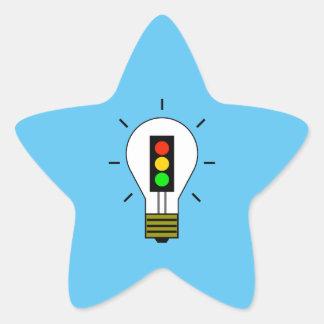 Adesivo Estrela Ampola do sinal de trânsito