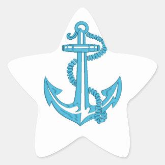 Adesivo Estrela âncora - imitação do bordado