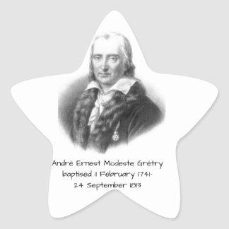 Adesivo Estrela André Ernest Modeste Gretry