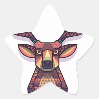 Adesivo Estrela animal dos cervos com chifres