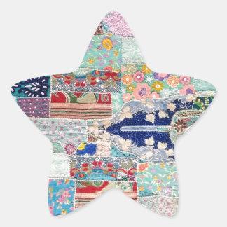 Adesivo Estrela Aqua e design azul da tapeçaria da edredão