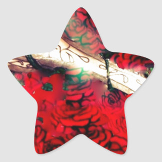 Adesivo Estrela Armas e rosas