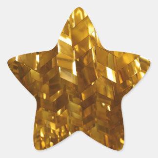 Adesivo Estrela Arte abstracta do teto do ouro