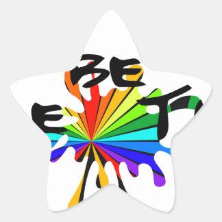 Adesivo Estrela Arte colorida criativa
