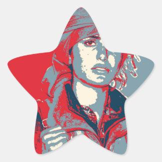 Adesivo Estrela Arte curdo 2 do lutador de YPJ