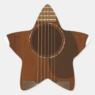 Adesivo Estrela Arte da guitarra acústica