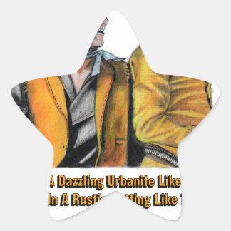Adesivo Estrela Arte de ardência das selas da edição limitada