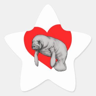 Adesivo Estrela arte do peixe-boi