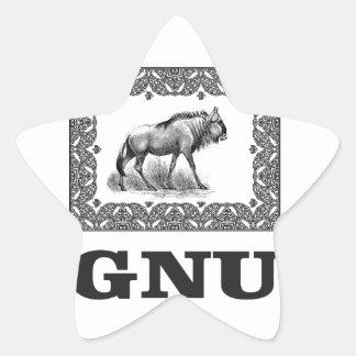 Adesivo Estrela Arte do poder do Gnu