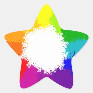 Adesivo Estrela Artista da roda de cor e professor de arte