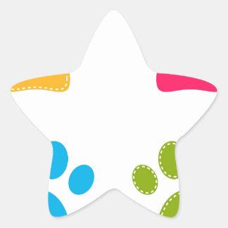 Adesivo Estrela As patas maravilhosas dos cães coloriram a edição