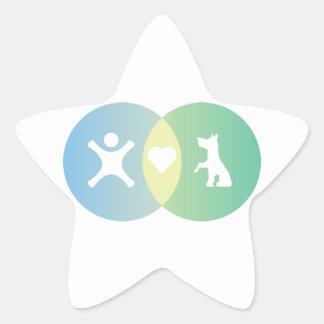 Adesivo Estrela As pessoas do coração perseguem o diagrama de Venn