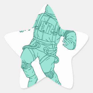 Adesivo Estrela Astronauta que flutua no desenho do espaço