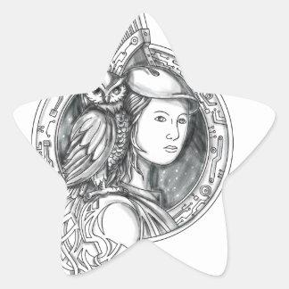 Adesivo Estrela Athena com a coruja no Cir do circuito eletrônico