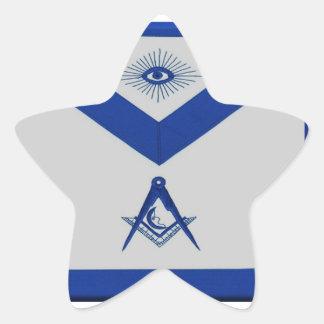 Adesivo Estrela Avental júnior maçónico do diácono