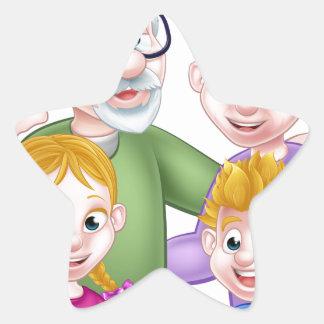 Adesivo Estrela Avós e netos dos desenhos animados