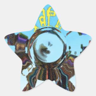 Adesivo Estrela Azul abstrato