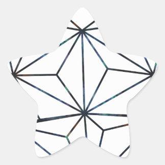 Adesivo Estrela azul-galaky-Geo-coração