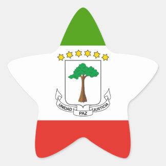 Adesivo Estrela Baixo custo! Bandeira da Guiné Equatorial