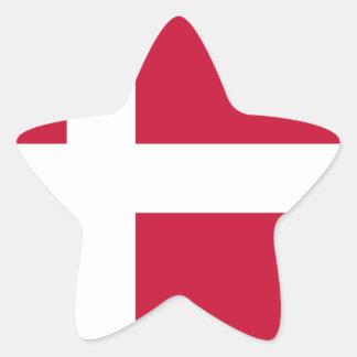 Adesivo Estrela Baixo custo! Bandeira de Dinamarca