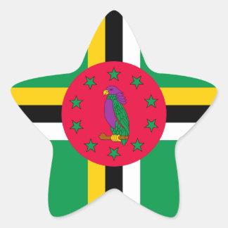 Adesivo Estrela Baixo custo! Bandeira de Dominica