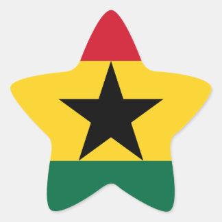 Adesivo Estrela Baixo custo! Bandeira de Ghana