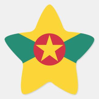 Adesivo Estrela Baixo custo! Bandeira de Grenada