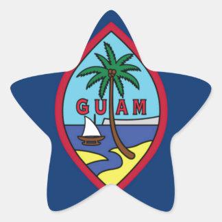 Adesivo Estrela Baixo custo! Bandeira de Guam