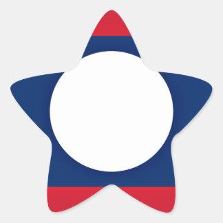 Adesivo Estrela Baixo custo! Bandeira de Laos