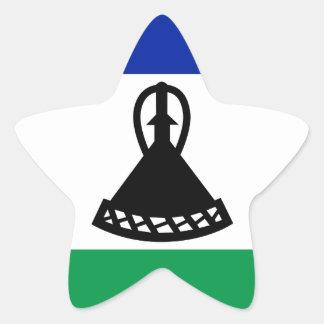 Adesivo Estrela Baixo custo! Bandeira de Lesotho
