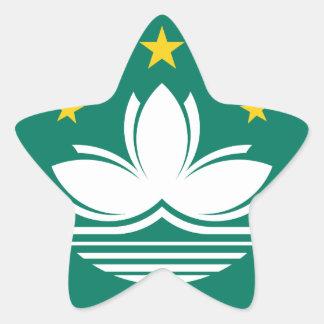 Adesivo Estrela Baixo custo! Bandeira de Macau