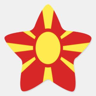 Adesivo Estrela Baixo custo! Bandeira de Macedónia
