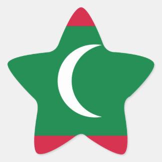 Adesivo Estrela Baixo custo! Bandeira de Maldives