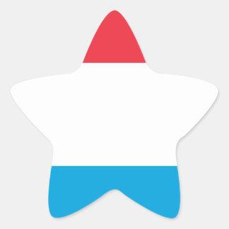 Adesivo Estrela Baixo custo! Luxembourg embandeira