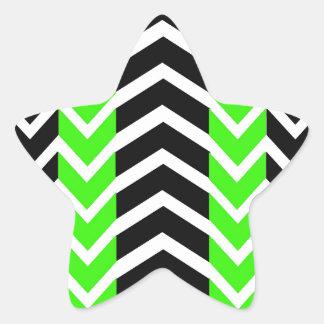 Adesivo Estrela Baleia verde e preta Chevron