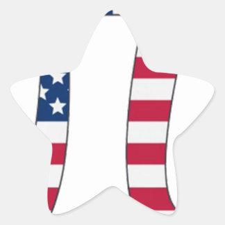 Adesivo Estrela Bandeira americana do dia do Pi, símbolo do pi