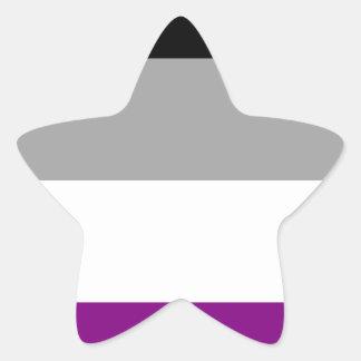 Adesivo Estrela Bandeira assexuada do orgulho