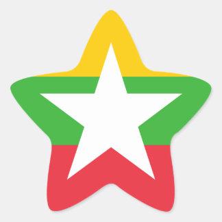 Adesivo Estrela Bandeira de Burma
