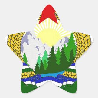 Adesivo Estrela Bandeira de Cascadia socialista