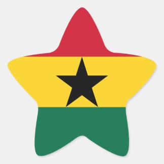 Adesivo Estrela Bandeira de Ghana