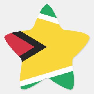 Adesivo Estrela Bandeira de Guyana
