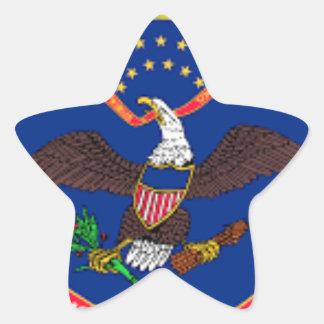 Adesivo Estrela Bandeira de North Dakota