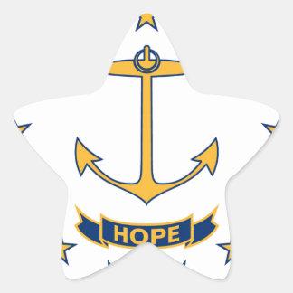 Adesivo Estrela Bandeira de Rhode - ilha