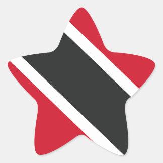 Adesivo Estrela Bandeira de Trinidadtobago