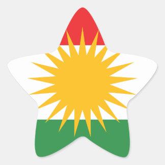 Adesivo Estrela Bandeira do Curdistão; Curdo; Curdo