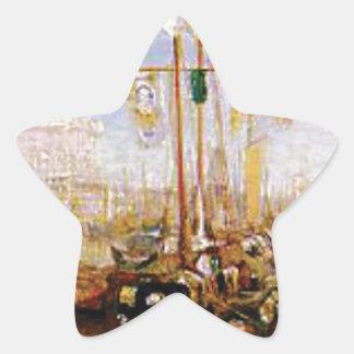 Adesivo Estrela barco sem velas