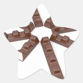 Adesivo Estrela Bares de chocolate do leite