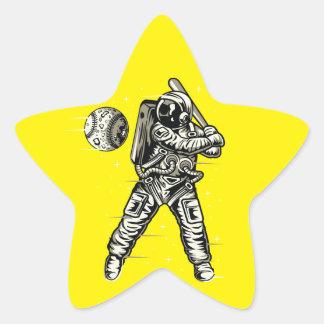 Adesivo Estrela Basebol do espaço