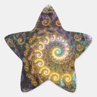 Adesivo Estrela Beleza do fractal do nautilus