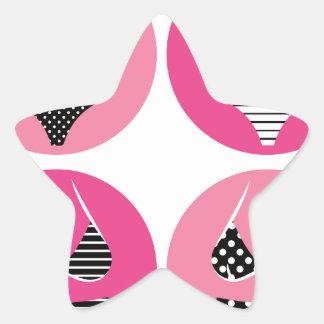 Adesivo Estrela Biquini maravilhoso no rosa